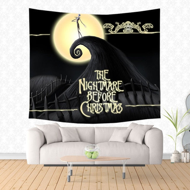 The Nightmare Before Christmas Design Wall Hanging N B C Tapestry