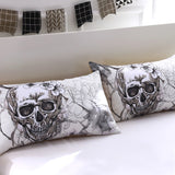 3d Flowers skull  Duvet Cover