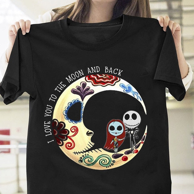Jack Sally I Love You To The Moon And Back T Shirt