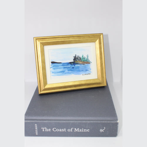 MINI FRAMED COAST WATERCOLOR