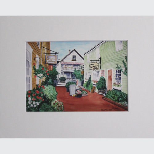 KENNEBUNKPORT DOCK SQUARE - PRINT