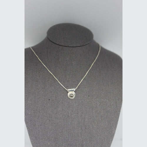 DAINTY SALT AND PEPPER DIAMOND NECKLACE