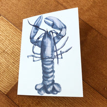 BLUE LOBSTER - BLANK NOTE CARDS