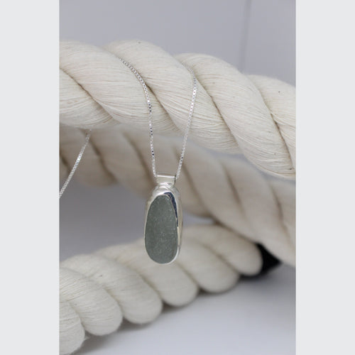 GRAY SEA GLASS NECKLACE