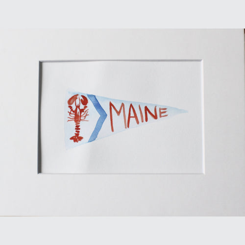 MAINE PENNANT WATERCOLOR - LOBSTER