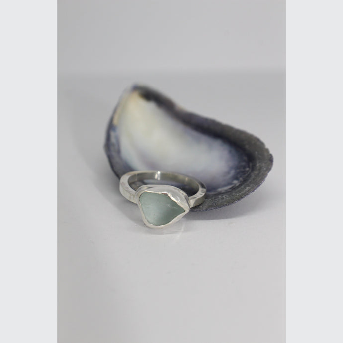 SEA FOAM SEA GLASS RING
