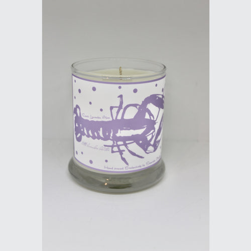 LITTLE LAVENDER LOBSTER CANDLE