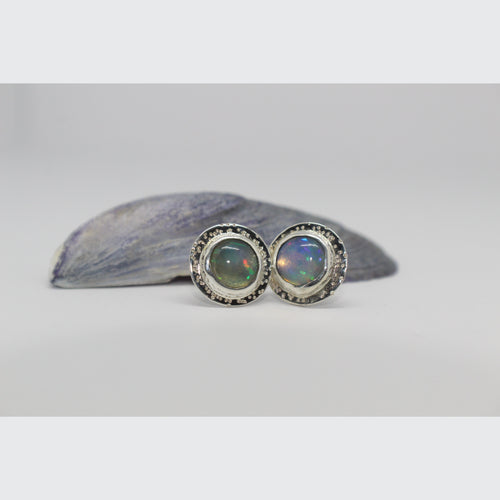 OPAL CIRCLE STATEMENT EARRINGS