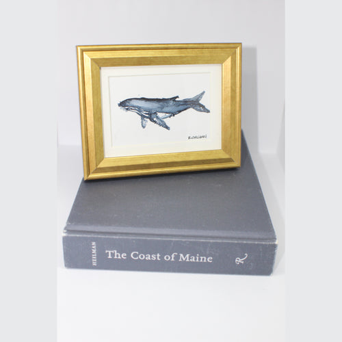 MINI FRAMED WHALE WATERCOLOR