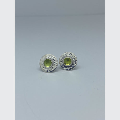 Winter Harbor - Peridot Dot Earrings