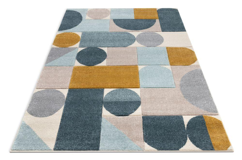 Well Woven Ruby Dede Modern Geometric Shapes Blue Rug Ru 104