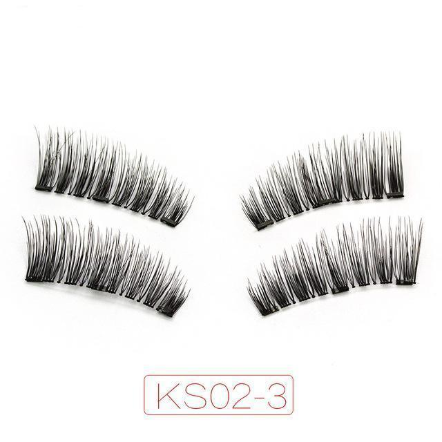 6D Triple Magnet Eyelashes Full Strip