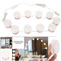 Adjustable Brightness Makeup Mirror Vanity LED Light USB Kit