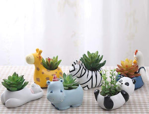 Cute Animal Pets Flower Pots