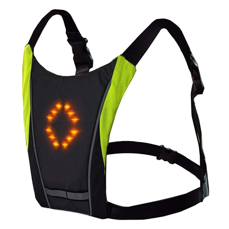 Cycling Bike Backpack with Safety Visibility LED Signal Lights Lightweight