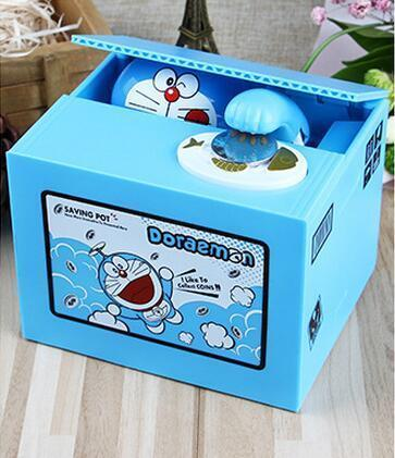 Doraemon Piggy Bank Stealing Money Fun