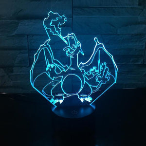 DragonBall Super Saiyan 3 Goku 3D Table Lamp 7 Color changing