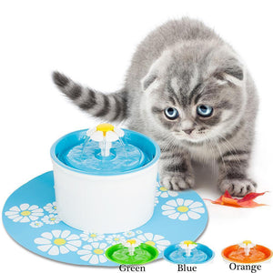 Flower Style Pet Water Drinking Fountain