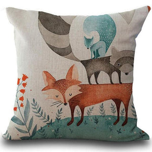 Fox Pillow Cover