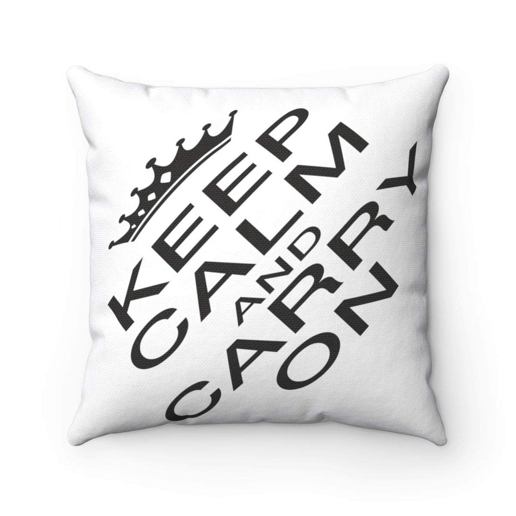 KEEP CLAM AND CARRY ON CUSHION