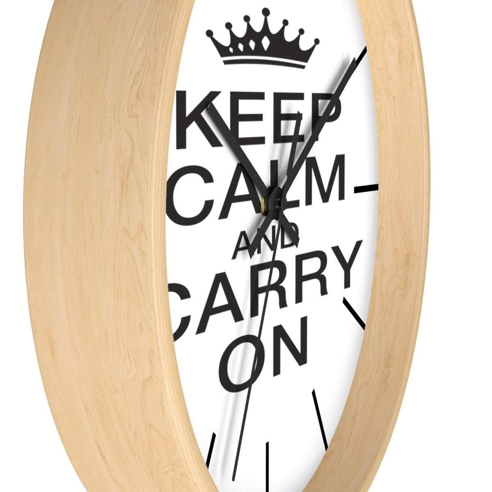 KEEP CLAM & CARRY ON CLOCK