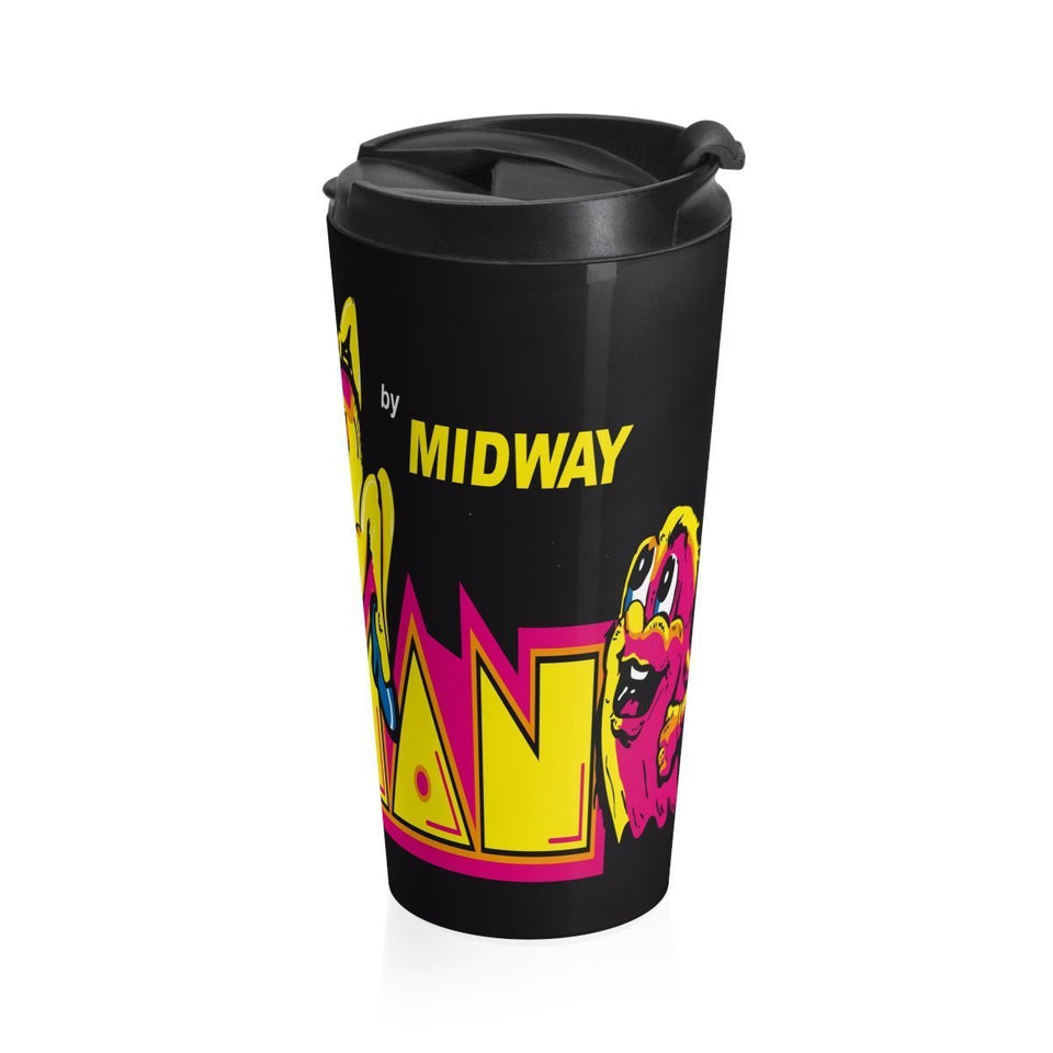 MS PAC MAN Stainless Steel Travel Mug