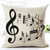 Music Notes Pillow Cover