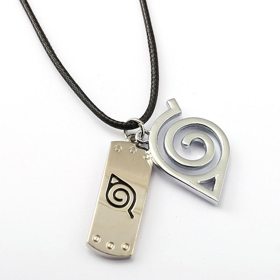NARUTO Choker Necklace Leaves Ninja Pendant