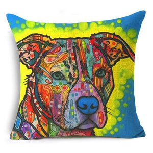 Nordic Colorful Oil Painting Pillow Cover