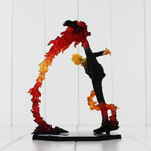 One Piece Black Leg Sanji Fire Battle Version Boxed 17cm