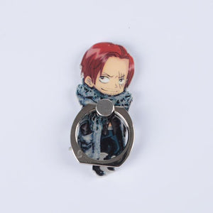 One Piece Luffy Straw Hat Sanji 360 Degree Metal Finger Ring Mobile Phone