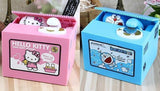 Piggy Bank Stealing Money (Doraemon +  Hello kitty)