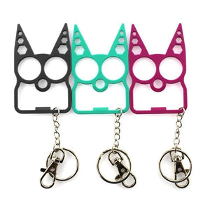 Portable Cute Cat Opener Screwdriver Keychain Self-defense Multifunction Outdoor