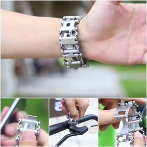 SUPREME 29-IN-1 STAINLESS STEEL MULTI-FUNCTIONAL TOOLS BRACELET