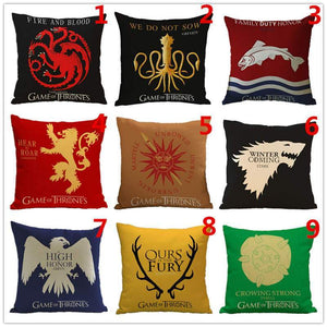 Thrones Style Pillow Cover