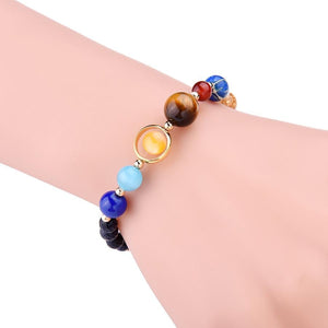 Universe Galaxy the Eight Planets Bracelet