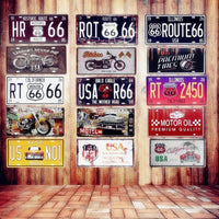 USA Vintage Metal License Plates