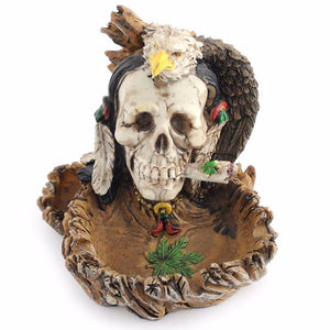 Witch Skull Skeleton Ashtray