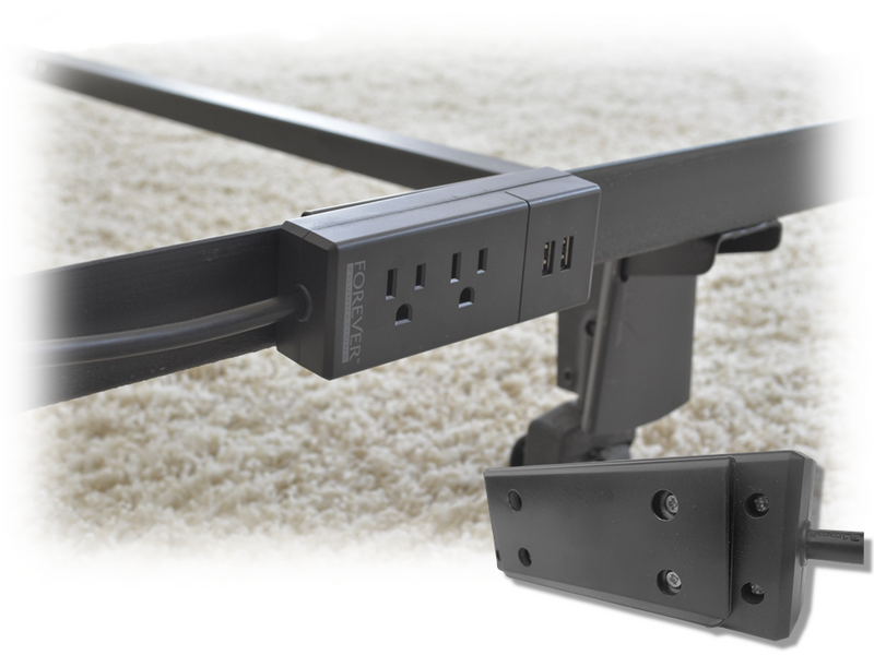Image of a BedPower 2.0 attached to a Bed frame