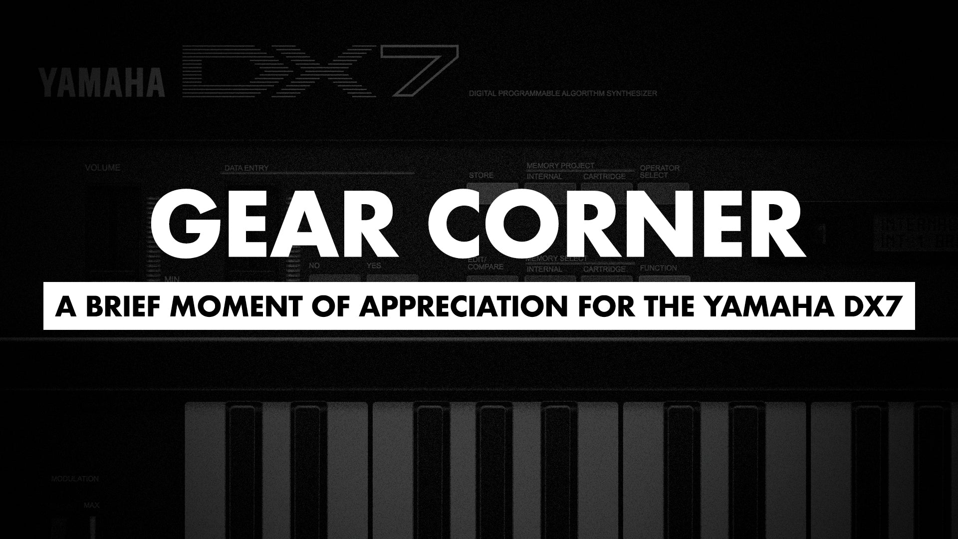 Gear Corner: A Brief Moment of Appreciation for the Yamaha