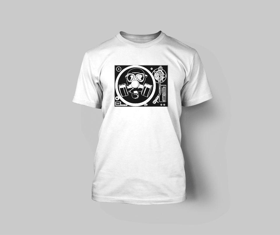 Men's Turntable Gas Mask Personalize Tee