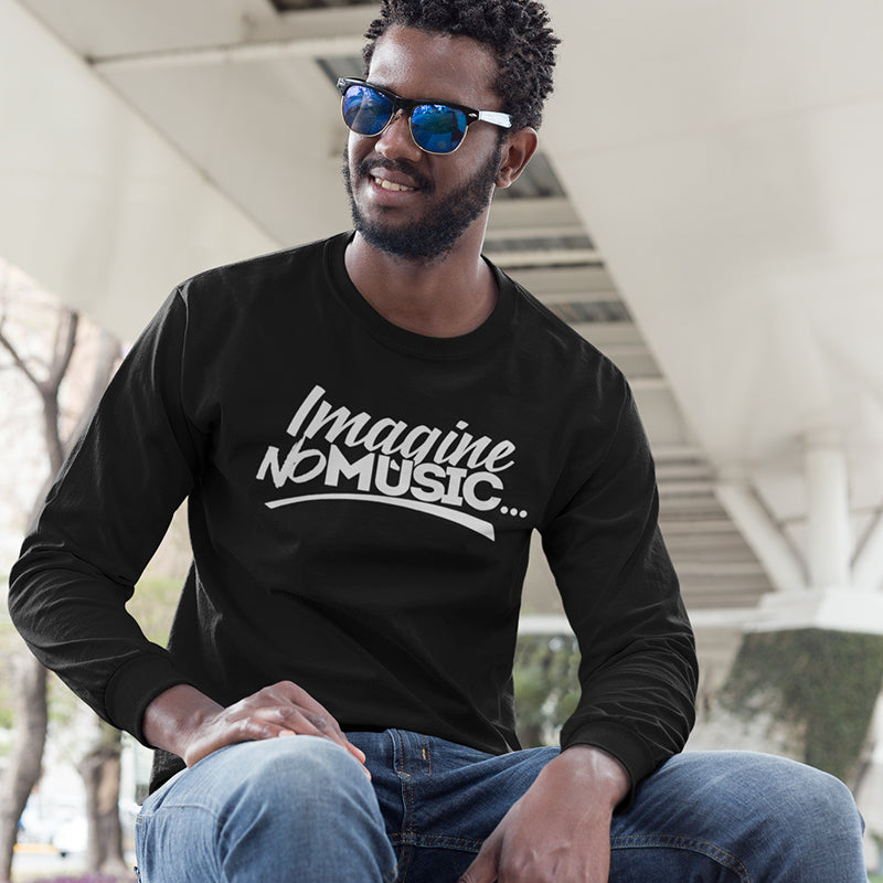 Men's Imagine No Music Long Sleeve T-Shirt
