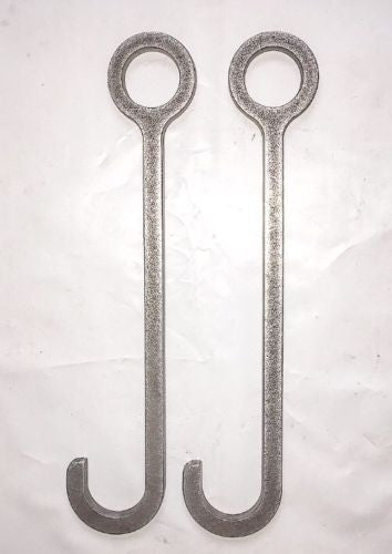"10"" Target Hanger Hooks for Pipe Set of 2"