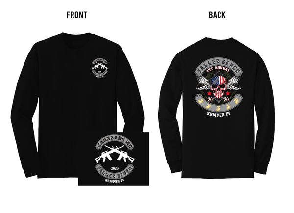 1st Annual Fallen 7 Memorial Long Sleeve Black Tee 2020