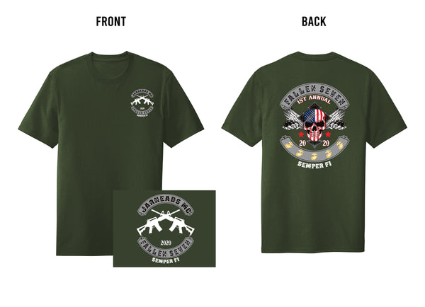 1st Annual Fallen 7 Memorial Military Green Shirt 2020