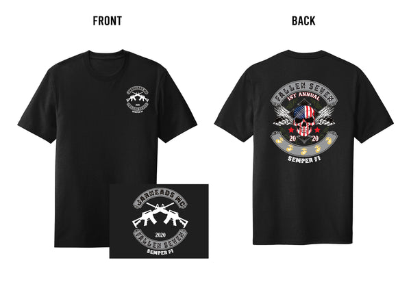 1st Annual Fallen 7 Memorial Black Shirt 2020