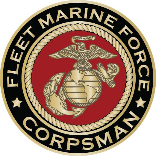 Fleet Marine Force Eagle, Globe & Anchor Corpsman Sticker