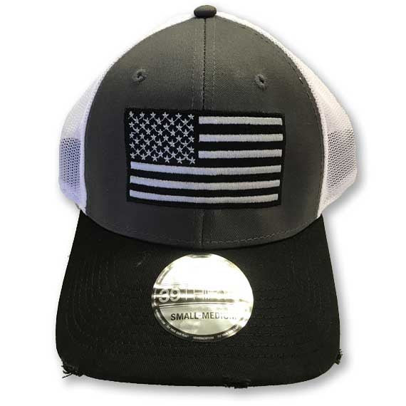American Flag fitted hat - corpsman-up.myshopify.com