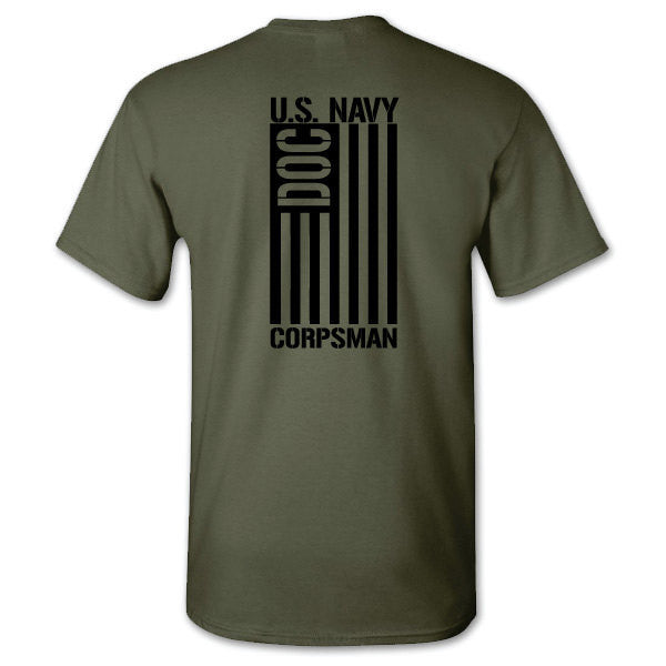 us navy corpsman american flag shirt
