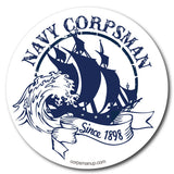 white us navy ship sticker